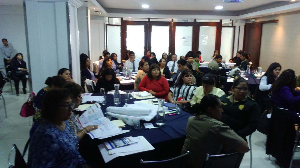 Curso formativo para procesamiento de casos de feminicidio (Arequipa, 2018)