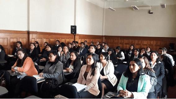 Taller para personal del Módulo de Justicia Integrado sobre VGB (La Libertad, 2018)