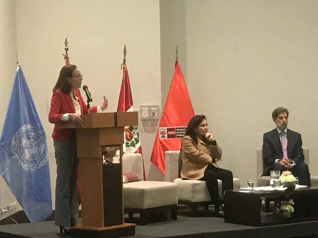 """Foro Público """" Fortaleciendo la respuesta pública multisectorial frente a la VBG"""" (Lima, 2019)."""