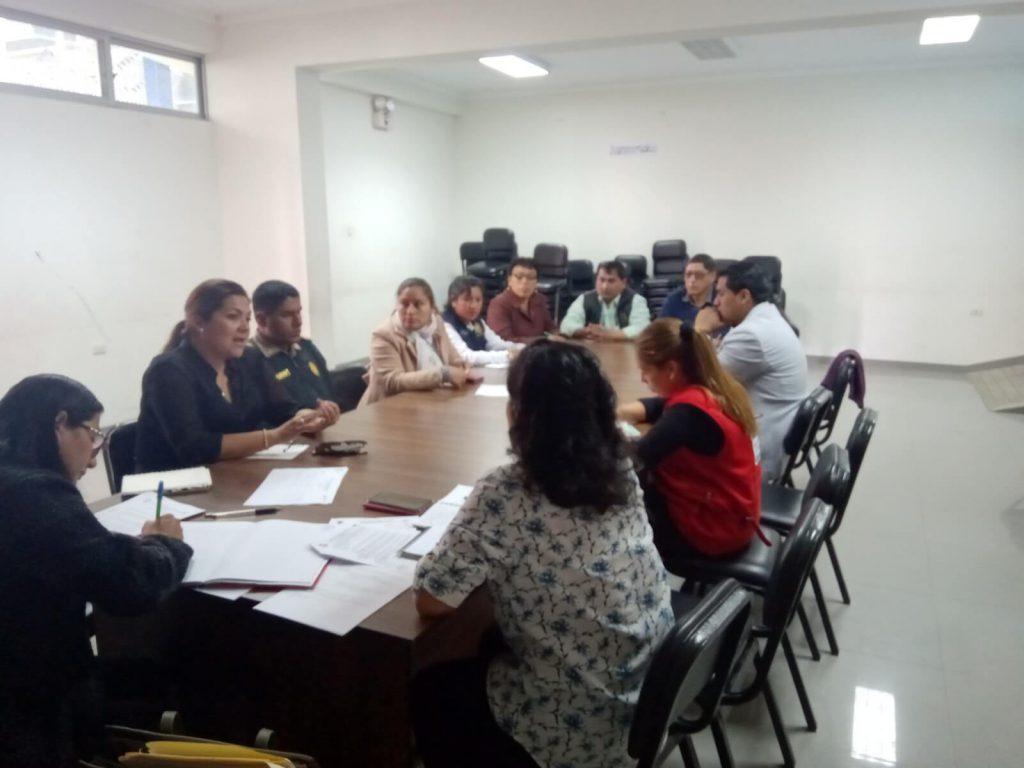 Reunión de trabajo del Grupo de trabajo del Centro de Atenciòn Socioemocional (CASE-Huamanga)