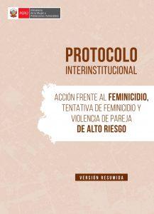 Protocolo interinstitucional de acción frente al feminicidio
